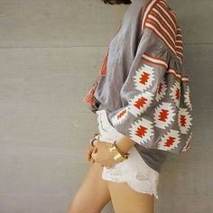 Vita Kin style Gray Red white Vyshyvanka BLOUSE Linen embroidery. size XS-XXL
