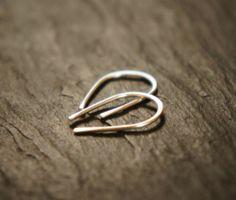 Simple Handmade Sterling Silver Everyday Earrings | eBay