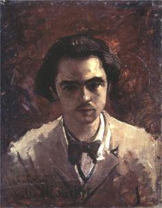 Portrait of Paul Verlaine,   Gustave Courbet---- il pleut sur mon coeur ....