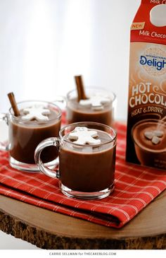 Frozen Whipped Cream Cubes for Holiday Hot Chocolate   Carrie Sellman for TheCakeBlog.com