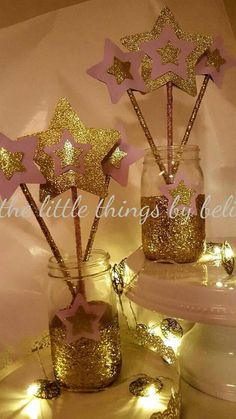 Twinkle Twinkle Little Star Themed Centerpieces Centro De Mesa