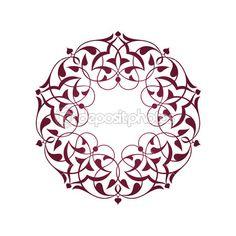 Pembe Osmanlı motifleri beyaz zeminde — Stok Vektör © topcu #26283561