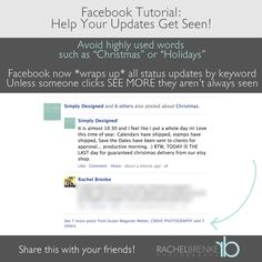 How to Make Sure Your Facebook Posts are Seen!  #photography  #business  #socialmedia