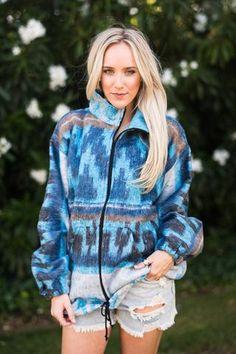 Santa Fe Zip Blanket Jacket by Three Bird Nest   Bohemian Clothing