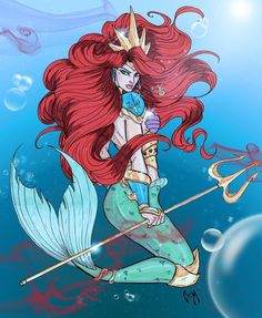 Empress Ariel. I love this but there are some key design flaws in her armor. Namely, all that exposed skin.
