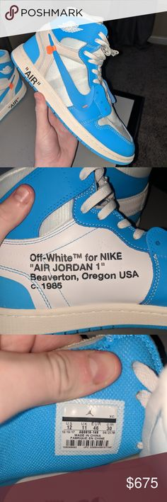 17d7e36f6bae Off white X air Jordan 1 Worn authentic Lowest price on the market for this  condition Trades welcome Nike Shoes Sneakers