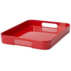 Plastic bussing tray, rounded corners
