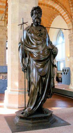 Orsanmichele Church and Museum - Florence. (Гильдия Торговцев) Святой Иоанн Креститель Гиберти - 1416