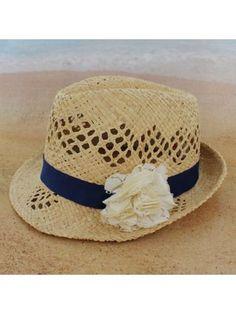 Tween's Eyelet Flower Fedora #shopewam #fedora #beach #summer