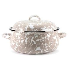 Check out this item at One Kings Lane! Swirl Dutch Oven, Taupe