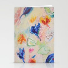Floral Daydream Abstact Collage Painting Stationery Cards by Fold Envelope, Canvas Prints, Art Prints, Daydream, Watercolor Tattoo, Card Stock, Stationery, Greeting Cards, Collage