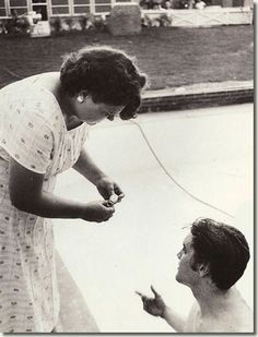 JULY 4, 1956 AUDUBON / ''Mama, hold on to my watch, so I don't ruin it in the pool, ok?''