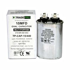 505 Mfd 370 Or 440 Vac Round Dual Run Capacitor Tp Cap 50