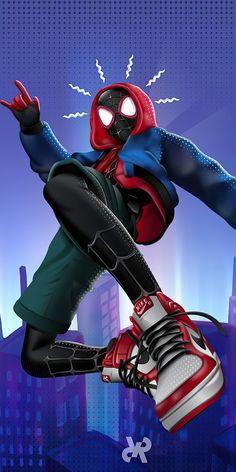 Marvel Phone Wallpaper, Comic Book Wallpaper, Spider Men, Spiderman Spider, Marvel Art, Marvel Avengers, Miles Morales Spiderman, Amazing Fantasy 15, Scarlet Spider