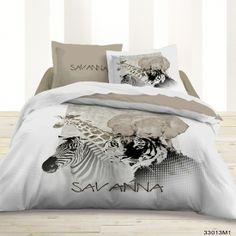 housse de couette et deux taies doreiller savanna disponible sur notre site www