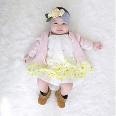 Madison in her @Snugars Headband and Gracious May MOCCASINS || Click to see and shop the look at GraciousMay.com!