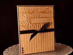 Embossed Bday by jasonw1 - Cards and Paper Crafts at Splitcoaststampers