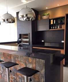 "Área gourmet da lindeza @carolcantelli_interiores <span class=""emoji emoji2728""></span><span class=""emoji emoji1f60d""></span> #kitchen #interiores #espaçogourmet ..."