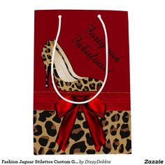 Fashion Jaguar Stilettos Custom Gift Bag Medium Gift Bag