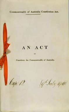 The Australian Constitution - An Act