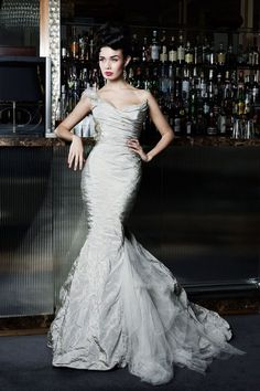 Silver Wedding Dresses, Classic And Luxurious : silver wedding dresses uk
