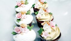 Sugarbloom Cupcakes - Perth WA: Pink, Cream, Green and White Cupcakes