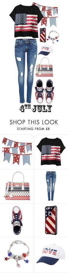"""""""4th of July"""" by vandaarh114 ❤ liked on Polyvore featuring Crate and Barrel, Chicnova Fashion, Prada, Converse, Kim Rogers, Charlotte Russe, redwhiteandblue and july4th"""