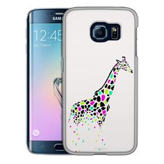 Samsung Galaxy S6 Edge Giraffe Black Pink Green Skin Slim Case