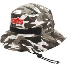 Cleveland Cavaliers New Era Rip'd Bucket Hat - Gray Woodland - $22.39