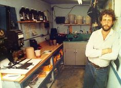 Dallas Morning News photographer Ron Baselice in the darkroom days 30 years ago.