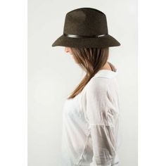 Chapeaux Travaux en Cours, chapeau feutre lien cuir - New