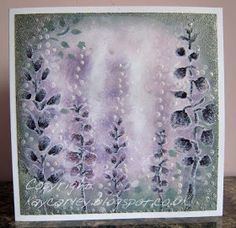 Crafting with Kay - the Carley Way Purple Haze, Watercolor Cards, Cardmaking, Imagination, Stencils, Projects To Try, Card Designs, Artsy, Sparkle