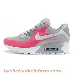 Nike Air Max 90 Rose / Gris / Blanc (Couple) Air Max Homme Vente