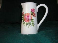Painted Roses Pitcher by LisasPaintedCrafts on Etsy, $10.00