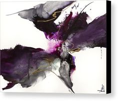 Abstract Canvas Print featuring the painting Elegant Presence IIi by Jonas Gerard