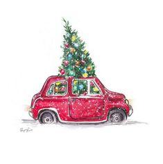 Super Drawing Art Fashion Artists Ideas - Fashion Show Christmas Car, Christmas Pictures, Vintage Christmas, Christmas Crafts, Merry Christmas, Christmas Design, Christmas Fashion, Illustration Noel, Christmas Illustration