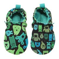 WeeChooze in Spook Weechooze Baby Booties: Designed to delight tiny toes and engage little inquisitive minds, weechooze features CHOOZE's signature coordinating prints, stimulating colors, super soft microfiber lining, elasticized ankles, and non-slip soles. Available in 3 sizes: 0-6 months, 6-9 months, and 9-12 months.