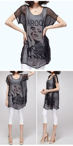 EuroAmerican Style Dress Loose Cotton Dress Fake by FashionOrgy, $56.50