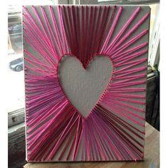 string art heart | Heart-Shaped String Art | Love day