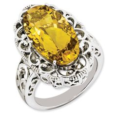 12 ct Sterling Silver Citrine Ring for $199.97