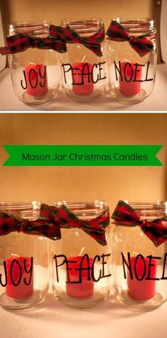 DIY Holiday Mason Jars
