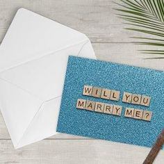 Will You Marry Me  Digital Download  5X7  Blue  Printable image 2 65th Birthday Cards, Happy Birthday Printable, 60th Birthday, Scrabble Tile Art, Scrabble Letters, Scrabble Wedding, Announcement Cards, Printable Cards, Marry Me