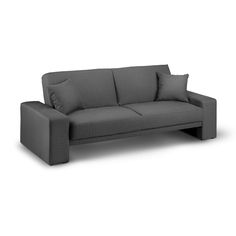 Durham Modern Sofa Bed In Matrix Grey Fabric