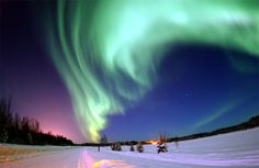See the aurora borealis in person in Alaska.