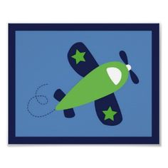 Airplane Transportation Boy Nursery Wall Art Print by little_prints