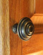 """5039-AB - 1-5/16"""" Round Cabinet Hardware Knob - Antique Brass"""