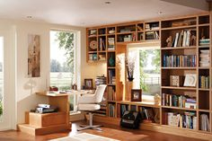Bookshelves built into the walls create places to store novels and other written works. These flexible furnishings also add character to the home. A built-in bookcase can be customized to fit avail...
