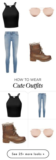 """Cute outfit look"" by bookerchilynnmahond on Polyvore featuring Steve Madden, Linda Farrow and Givenchy"