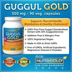 Guggul GOLD - Gugulipid Extract - 500 mg (90 Vegetarian Capsules) by Nutrigold. $12.95. The Guggul Gold™ Advantage Guggul Gold™ by Nutrigold® features Gugulipid®, a high quality, pure extract prepared from the oleogum resin of Commiphora mukul tree standardized to contain 12.5 mg of Guggulsterones Z & E, the active ingredients clinically shown to help maintain healthy cholesterol levels.*  Other Guggul products may contain higher amounts of TOTAL Guggulsterones, but ...