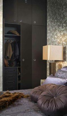 Leather compass wardrobe. #bedroom #wardrobe